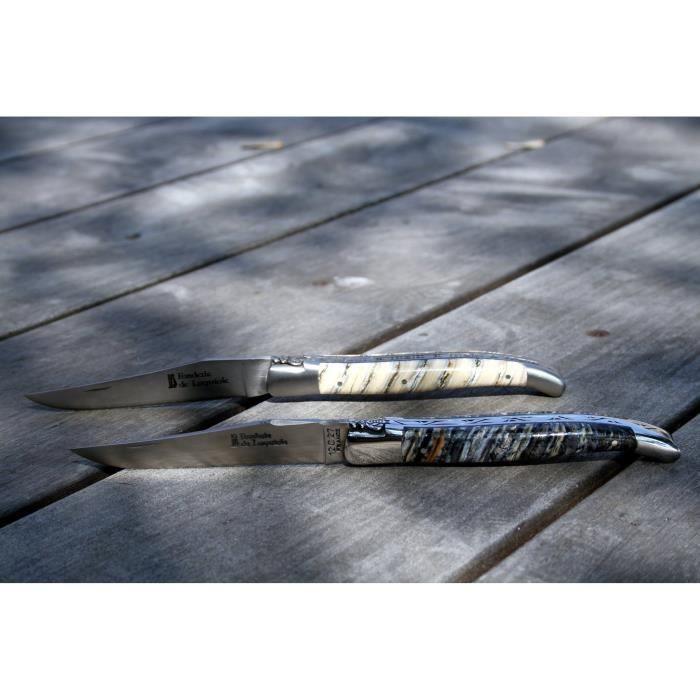 couteau laguiole haut de gamme fonderie de laguiole manche molaire de mammouth achat vente. Black Bedroom Furniture Sets. Home Design Ideas