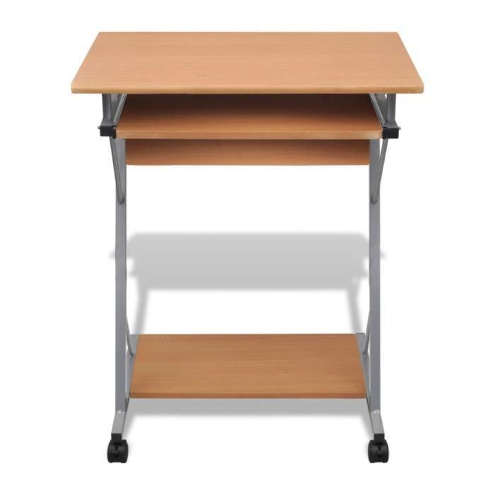 Magnifique table de bureau brune pour ordinateur achat for Table pour pc de bureau