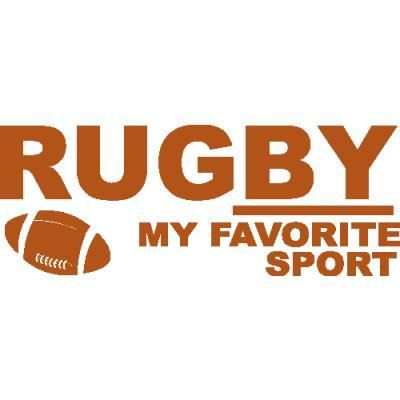 stickers chambre ado rugby 95 x 36 cm noisette achat. Black Bedroom Furniture Sets. Home Design Ideas