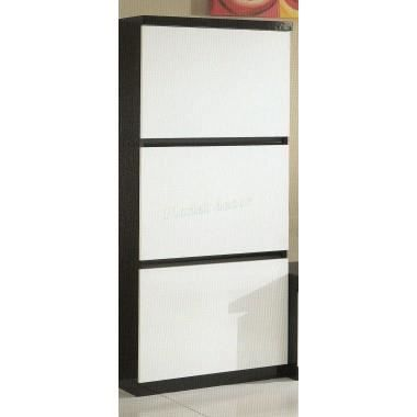 meuble colonne roma noir blanc achat vente vitrine. Black Bedroom Furniture Sets. Home Design Ideas