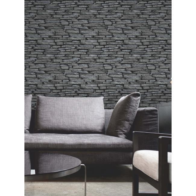fine decor 31291 papier peint effet ardoise achat vente papier peint cdiscount. Black Bedroom Furniture Sets. Home Design Ideas