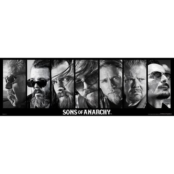 poster sons of anarchy collage achat vente affiche cdiscount. Black Bedroom Furniture Sets. Home Design Ideas