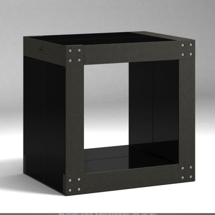 Table d 39 appoint noire noire achat vente table d - Table d appoint noire ...