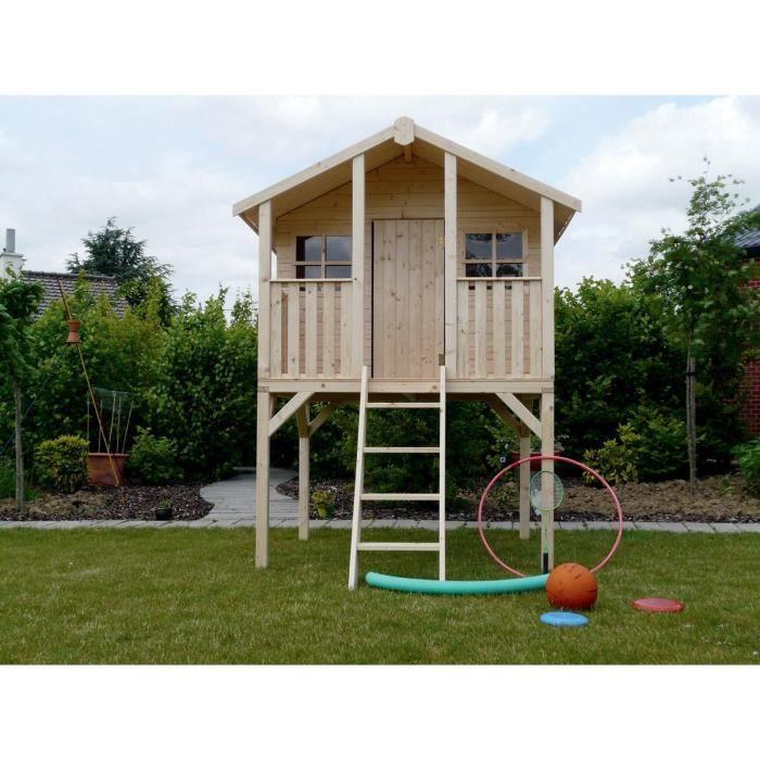 Cabane pour enfants sur pilotis - 1.8 x 1.9 m - Achat ...