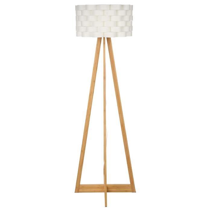 paris prix lampadaire bambou 150cm blanc achat vente paris prix lampadaire bam. Black Bedroom Furniture Sets. Home Design Ideas