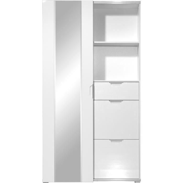 Penderie almaric blanc laqu brillant achat vente penderie mobile penderi - Dressing blanc laque ...
