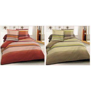 Parure lit flanelle 140 190 achat vente parure lit - Parure de lit en flanelle 2 personnes ...
