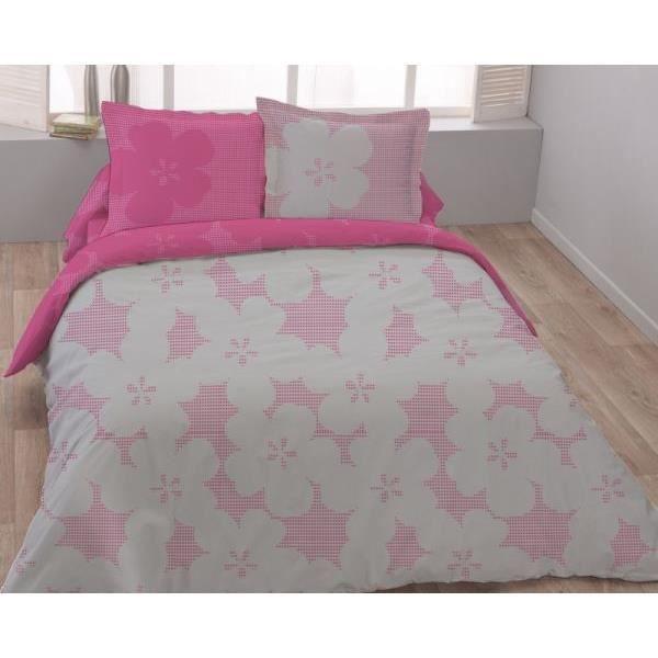 parure drap plat drap housse 2 taies d oreiller lilly dv. Black Bedroom Furniture Sets. Home Design Ideas