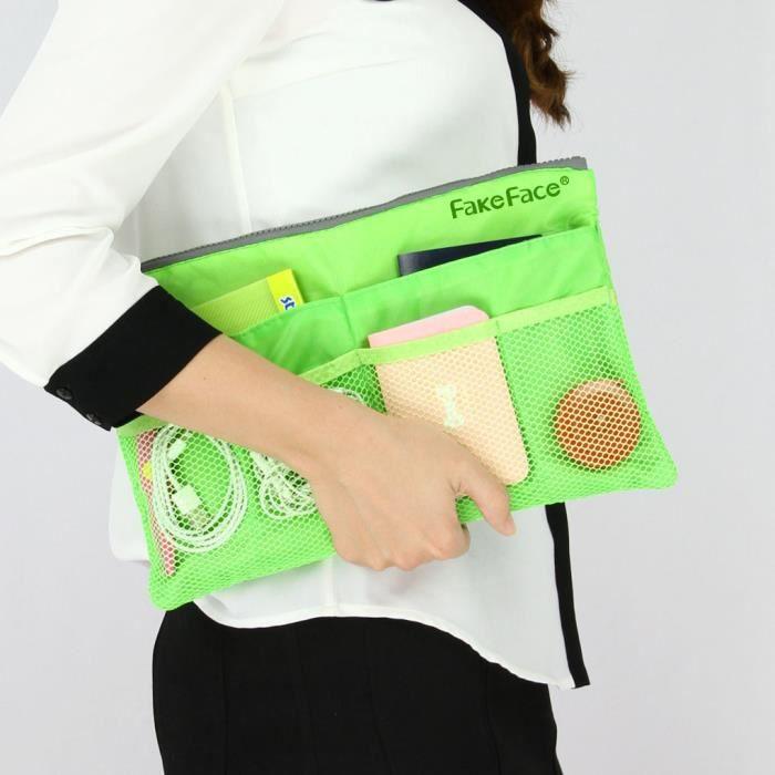 Organisateur pochette sac de rangement de tablette zipp - Pochette murale de rangement ...