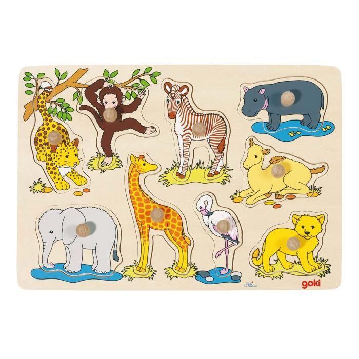 puzzle b b s animaux d 39 afrique achat vente puzzle cdiscount. Black Bedroom Furniture Sets. Home Design Ideas