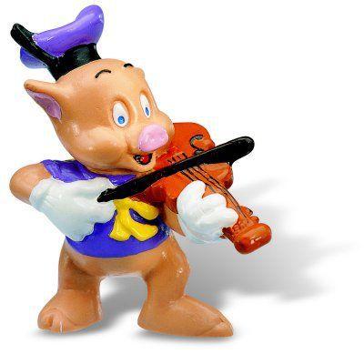 les trois petits cochons petit cochon violoniste achat vente figurine personnage cdiscount. Black Bedroom Furniture Sets. Home Design Ideas