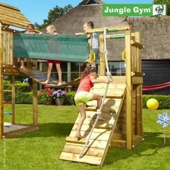 Pont suspendu bois jungle gym bridge extension achat for Pirate ship jungle gym