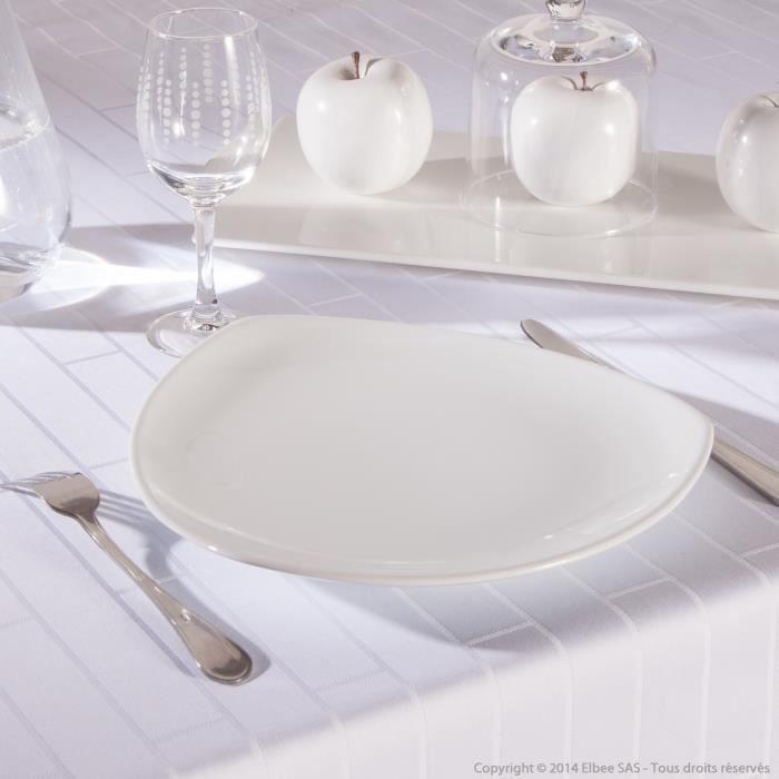 assiette plate triangulaire en fa ence lot de 6 triangelu achat vente assiette. Black Bedroom Furniture Sets. Home Design Ideas