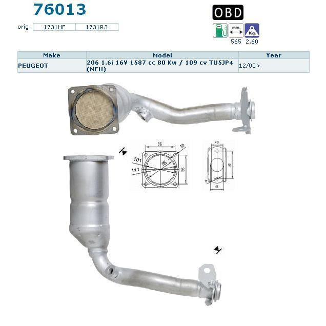 pot catalytique peugeot 206 magnaflow achat vente pot catalytique pot catalytique peugeot