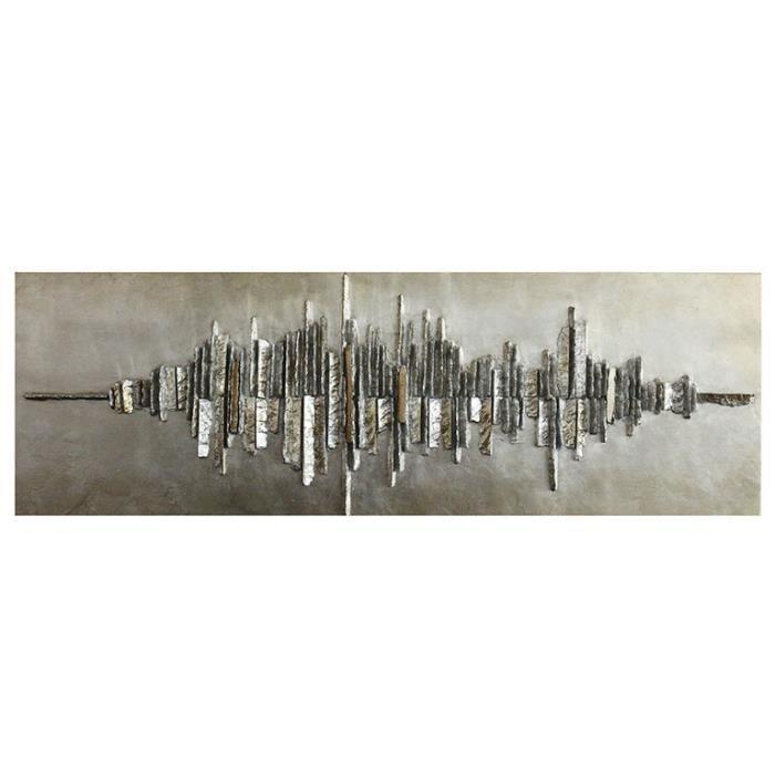 Sonar tableau design achat vente tableau toile cdiscount - Tableau design metal ...