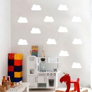 stickers muraux enfant nuage achat vente stickers muraux enfant nuage pas cher cdiscount. Black Bedroom Furniture Sets. Home Design Ideas