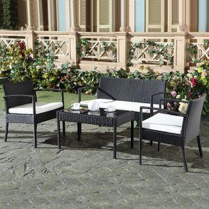 fauteuil resine tresse chocolat achat vente fauteuil. Black Bedroom Furniture Sets. Home Design Ideas