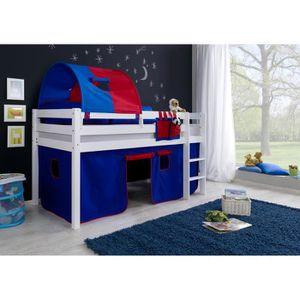 lit garcon mezzanine achat vente lit garcon mezzanine pas cher cdiscount. Black Bedroom Furniture Sets. Home Design Ideas