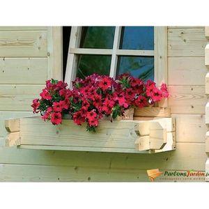Bac fleur en bois pour abri de jardin achat vente jardini re pot fleur bac fleur en - Bac a arbre ...