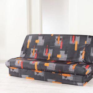 housse clic clac 130x190 achat vente housse clic clac 130x190 pas cher cdiscount. Black Bedroom Furniture Sets. Home Design Ideas