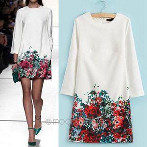 ROBE MOONAR® Vêtements Femmes Mode Robe blanche avec de