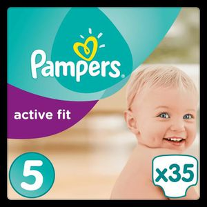 COUCHE PAMPERS Active Fit Taille 5 - 11 à 23kg - 35 couch