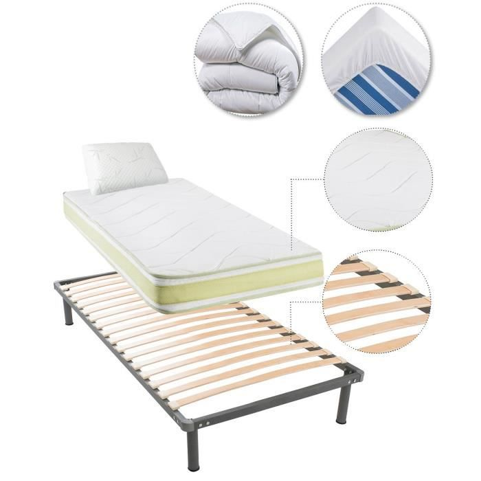 Greeneo matelas sommier oreiller couette prot ge matelas for Protege couette