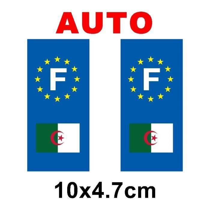 sticker pour plaque auto drapeau algerie achat vente d coration v hicule sticker drapeau. Black Bedroom Furniture Sets. Home Design Ideas