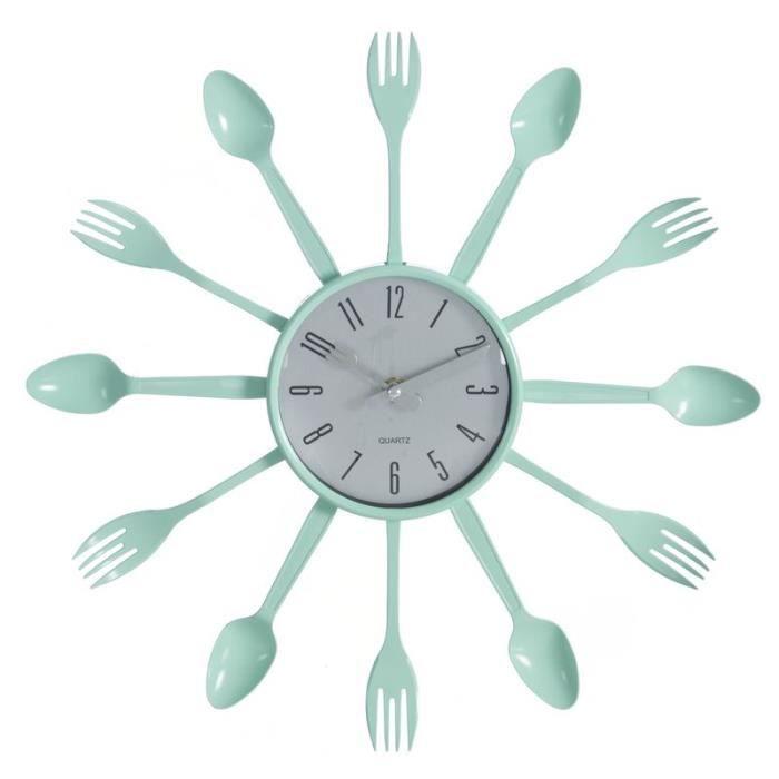 Horloge cuisine couvert achat vente horloge cuisine - Horloge cuisine pas cher ...