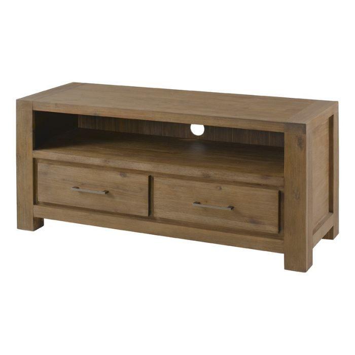 Inwood meuble tv 104 cm gris achat vente meuble tv meuble tv 1 niche et - Meuble en acacia massif ...