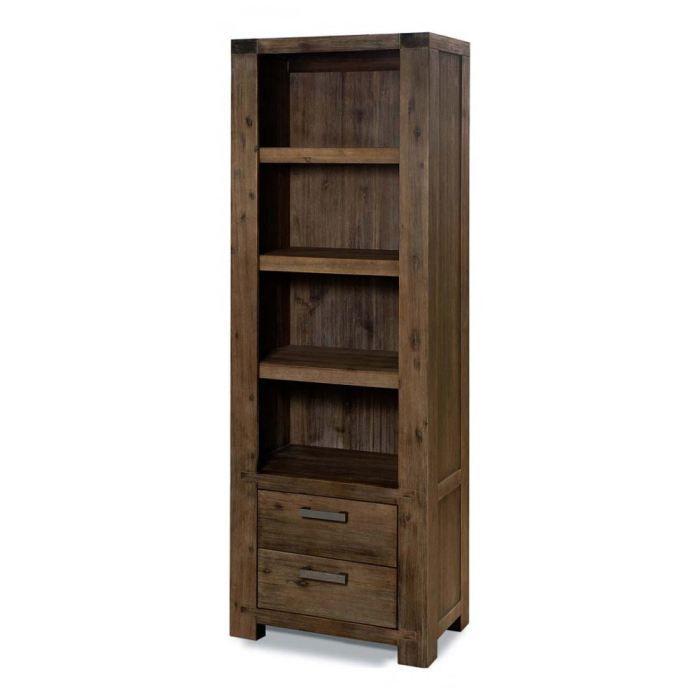 biblioth que acacia massif 2 tiroirs 4 niches achat vente biblioth que biblioth que. Black Bedroom Furniture Sets. Home Design Ideas