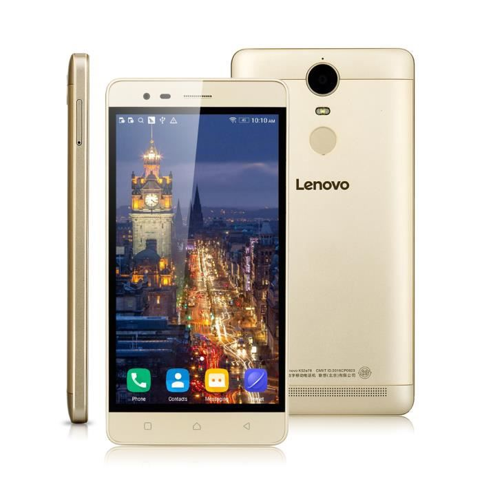 """Lenovo K5 Note 5.5 """"4G Smartphone Débloqué Or Android 5.1 ..."""