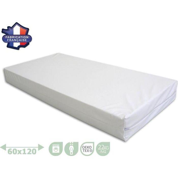 modulit matelas imperm able d houssable pour lit enfant fabriqu en france 60x120 cm achat. Black Bedroom Furniture Sets. Home Design Ideas