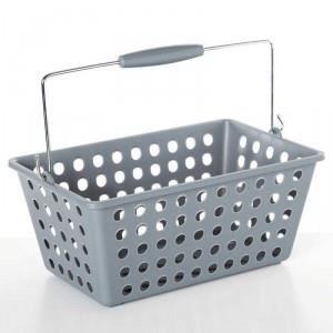 paris prix panier de rangement avec anse plastique gris achat vente casier pour meuble. Black Bedroom Furniture Sets. Home Design Ideas