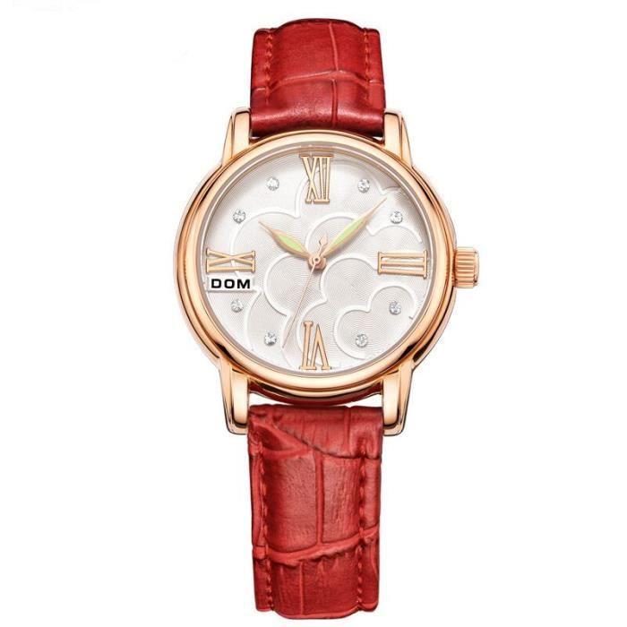 sharphy montres femmes 2016 marque de luxe diamant analogique quartz tanche bracelet en cuir. Black Bedroom Furniture Sets. Home Design Ideas