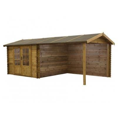Abri de jardin et carport rochester en bois trait achat vente abri jardi - Carport abri de jardin ...