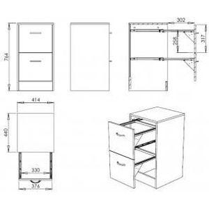 classeur 2 tiroirs pour dossiers suspendus achat vente. Black Bedroom Furniture Sets. Home Design Ideas