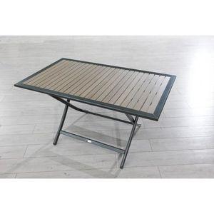 Table de jardin en bois achat vente pas cher cdiscount - Table de jardin bois pas cher ...