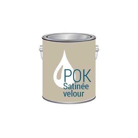 Pok satin olive peinture satin e achat vente for Peinture acrylique murale satinee