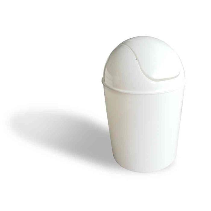 poubelle avec couvercle bascule en plastique 7 achat vente poubelle corbeille poubelle. Black Bedroom Furniture Sets. Home Design Ideas