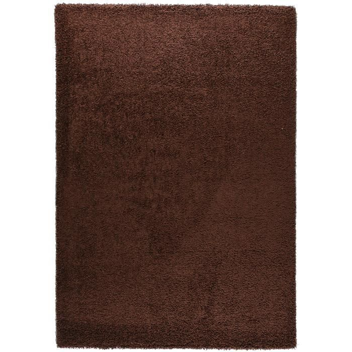 tapis moderne basic trendy marron 200x290 par les tapis achat vente tapis cdiscount. Black Bedroom Furniture Sets. Home Design Ideas