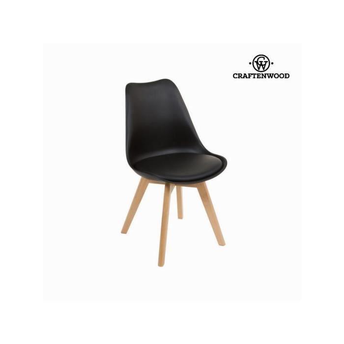 Chaise avec pieds en bois by craften wood achat vente chaise cdiscount - Chaise avec pied en bois ...