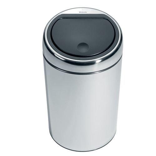 poubelle brabantia touch bin 20 l acier poli achat vente poubelle corbeille poubelle. Black Bedroom Furniture Sets. Home Design Ideas