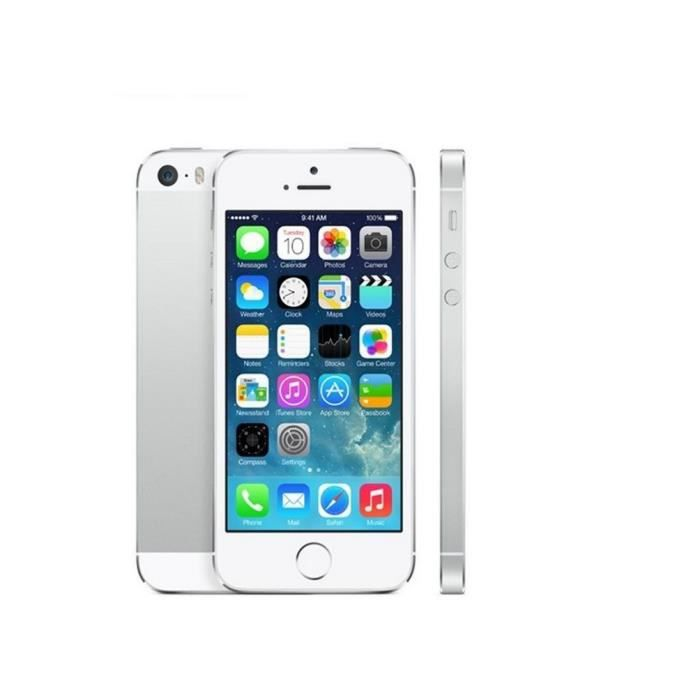 iphone 5s 32 go argent tout operateur debloque achat. Black Bedroom Furniture Sets. Home Design Ideas