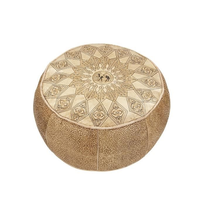 coussin de si ge pouf oriental marron 52 cm achat. Black Bedroom Furniture Sets. Home Design Ideas