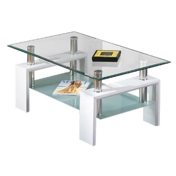 table basse laque blanc en verre achat vente table basse laque blanc en verre pas cher. Black Bedroom Furniture Sets. Home Design Ideas