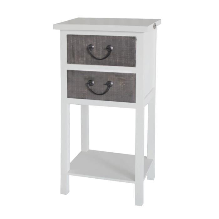 Table de chevet wood 2 tiroirs achat vente chevet - Table de chevet fait maison ...