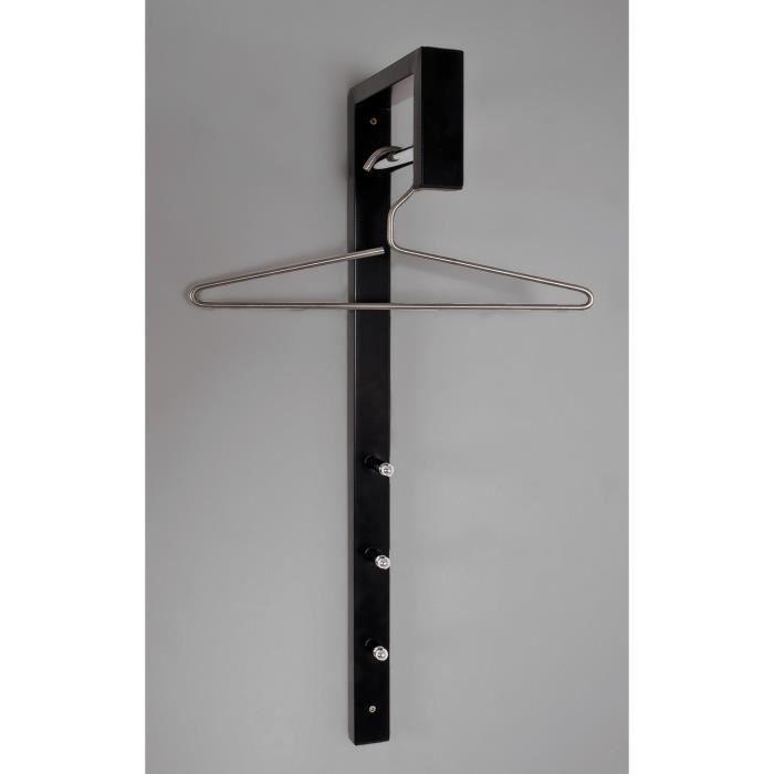 miliboo porte manteau mural design noir hook achat. Black Bedroom Furniture Sets. Home Design Ideas