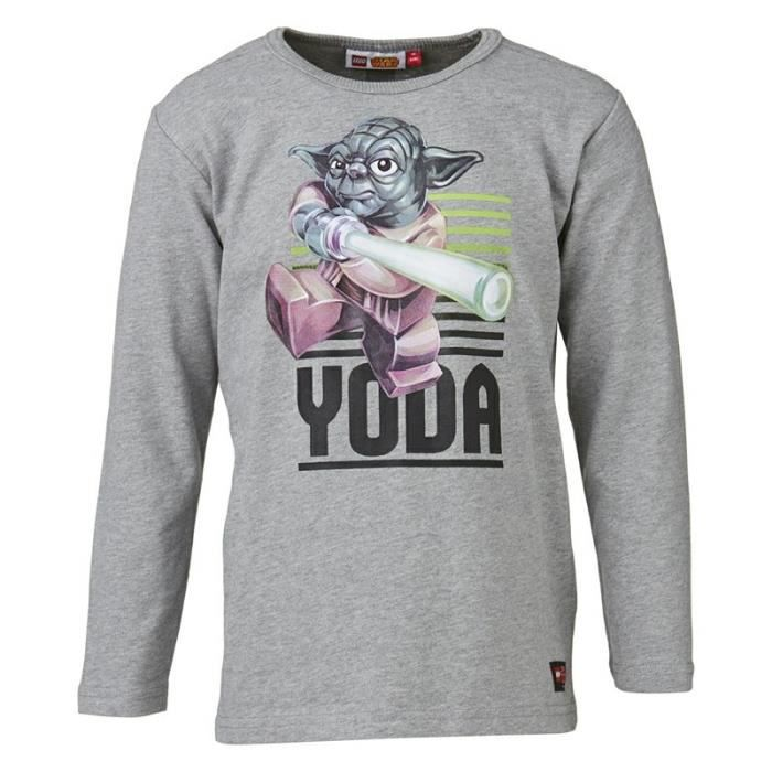 lego t shirt star wars phosphorescent enfant gar on gris achat vente t shirt cdiscount. Black Bedroom Furniture Sets. Home Design Ideas