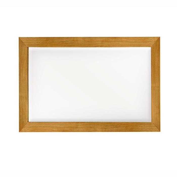 Miroir en teck massif 150 x 80 cm leon achat vente for Miroir 150 x 100